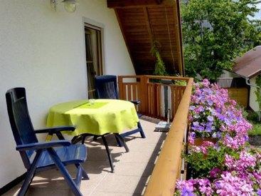 Ferienwohnung Grün Balkon
