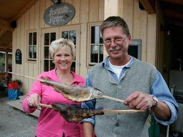 Fischhütte Reiter - Osternach, Chiemsee-Fischerei Steinbeißer-Reiter in Prien am Chiemsee