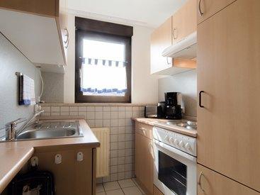 Küche in der Ferienwohnung 4 im Fritzerhof in Kleingesee bei Gößweinstein in der Fränkischen Schweiz
