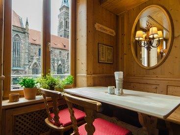 Toller Ausblick auf St. Sebald in Nürnberg