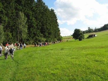 Bad Steben Ferienwohnung Heger wandern mit dem Frankenwaldverein