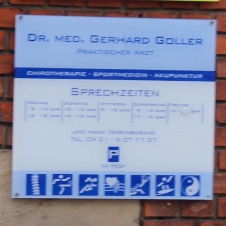 Praktischer Arzt Dr. med. Gerhard Goller