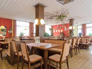 Unser Cafe im Erdgeschoss