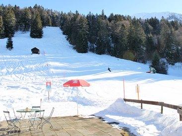Die Talabfahrt vom Nebelhorn führt direkt am Cafe Breitenberg vorbei!