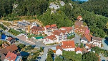 Das Hotel Sponsel-Regus aus der Vogelperspektive