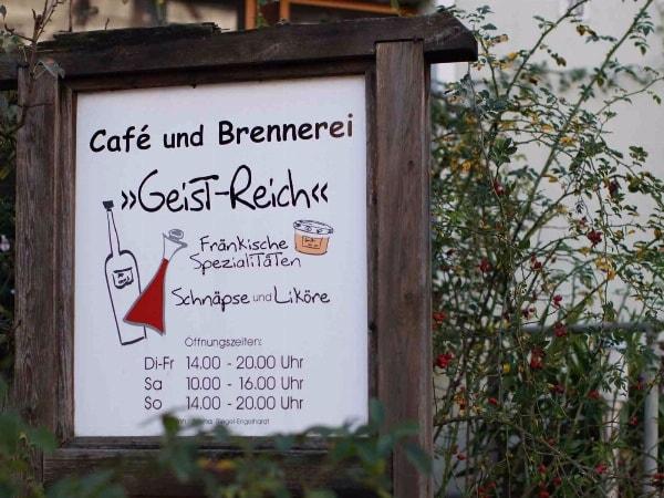 Fränkische Brennerei, Café und Hofladen Geistreich