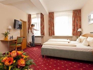 Doppelzimmer im  Hotel Goldner Stern in Muggendorf in der Fränkischen Schweiz