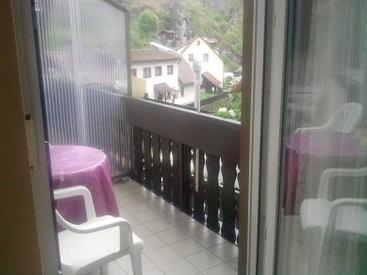 Appartement - Balkon mit Aussicht auf die Felsen