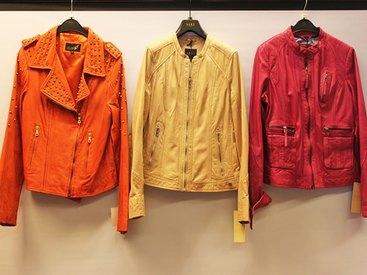Designer-Lederjacken in vielen verschiedenen Farben und Formen bei Modetreff Marlies in Oberstaufen