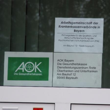 AOK Dienstleistungszentrum Ärzte in Bayreuth