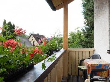 Willkommen in unserer Ferienwohnung in Gößweinstein - Balkon