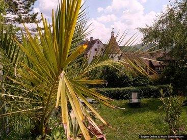 Der Garten unserer Ferienwohnung in der Fränkischen Schweiz ist eine grüne Oase
