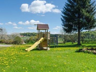 Außenbereich im Fritzerhof in Kleingesee bei Gößweinstein in der Fränkischen Schweiz