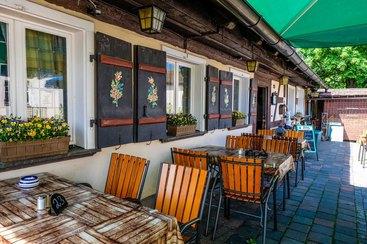 Der Biergarten des Restaurants Lutzgarten in Nürnberg
