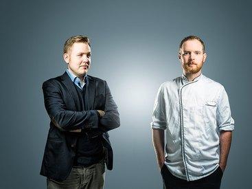Jens Brockerhof und Küchenchef Felix Schneider