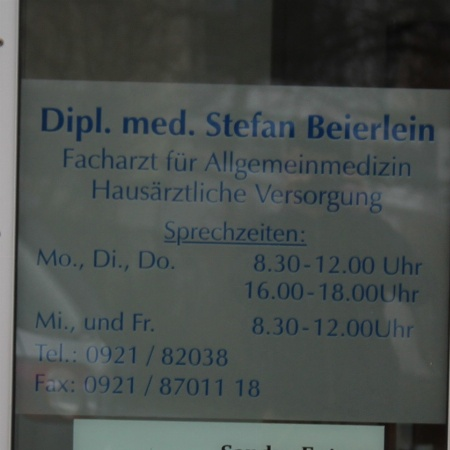 Allgemeinmediziner Dipl.-Med. Stefan Beierlein
