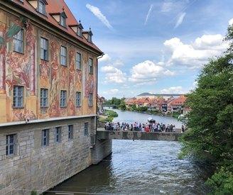 Bamberg am Kranen mit Blick auf klein Venedig